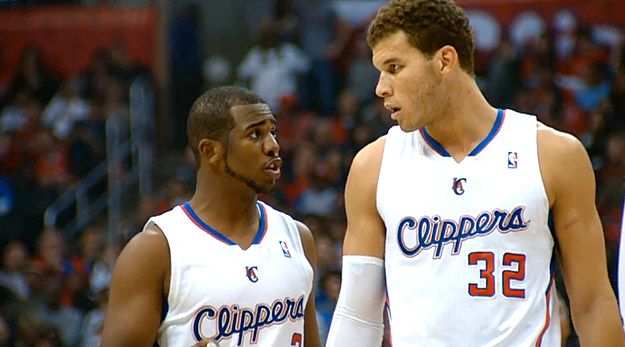 Blake Griffin y Chris Paul apuntan al anillo.