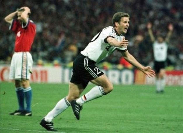 Oliver Bierhoff this goal was the first golden goal in history.