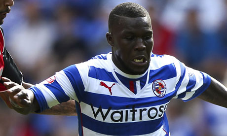 Drenthe con la camiseta del Reading en 2014.