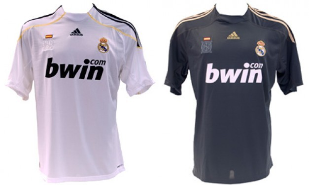 Las camisetas del Real Madrid en la temporada 2009/10.
