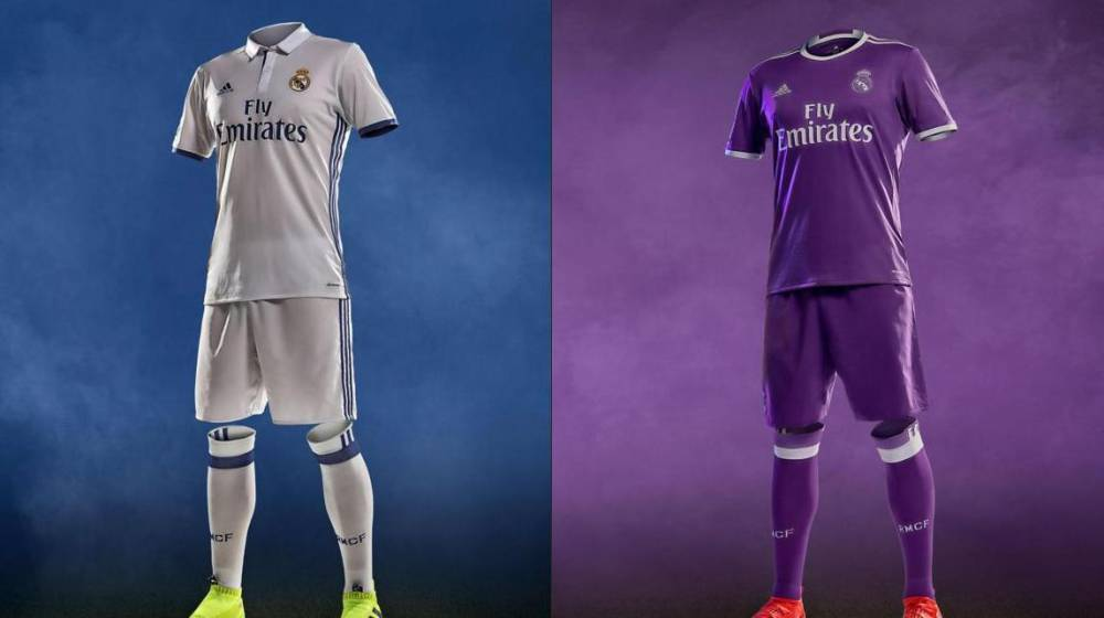 Las camisetas del Real Madrid para la temporada 2016/17.