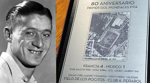 El francés Lucient Laurent marcó el primer gol de los Mundiales el 13 de julio de 1930. Su selección ganó a México 4-1.