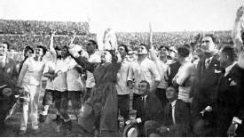 Uruguay celebró por todo lo alto la conquista del Mundial de 1930, el único sin fase de clasificación.