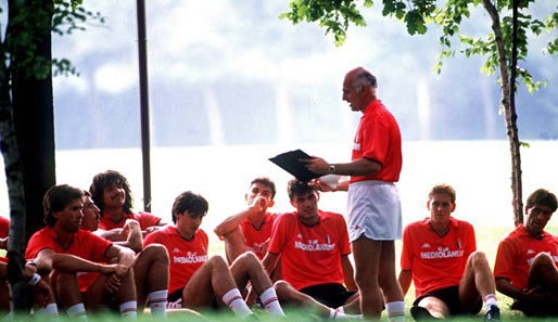 Sacchi fue temido por los jugadores por su afán siempre de mejora.