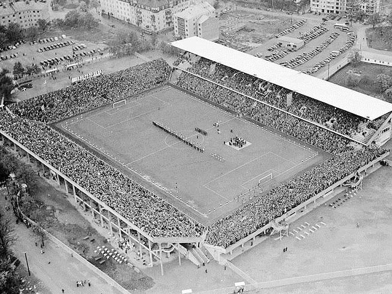 Rasunda se llenó para ver la final Brasil-Suecia de 1958.