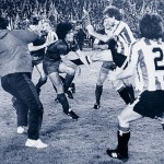 Bronca espectacular en la final de Copa de 1984