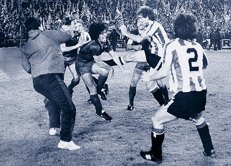 spectacular brawl in Cup final 1984