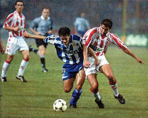 Manjarin jugó en el Deportivo.