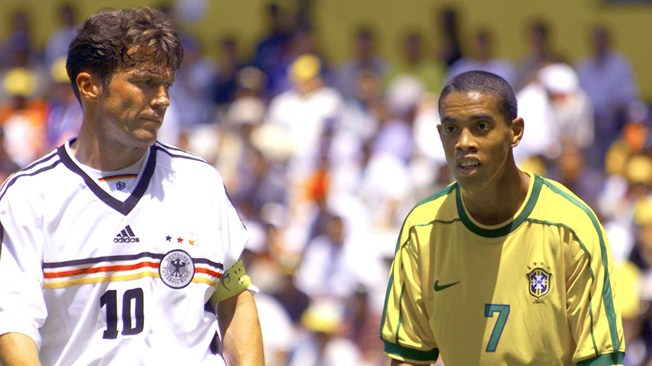 Do you recognize the young Brazilian is next to Matthäus on the photo?. Some 19 years separate them.