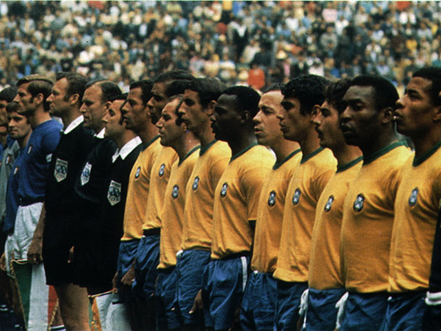 Pele's Brazil, one of the best teams in the world in the 70's
