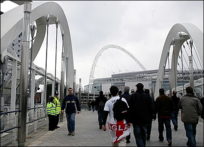 Wembley bridge in honor of the white horse.
