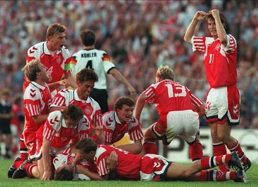 Dinamarca dio la gran sorpresa de la historia de la Eurocopas, con permiso de Grecia.