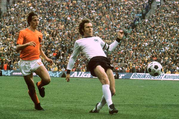 Beckenbauer and Cruyff, the two stars of this World, the top two teams in the world at that time.