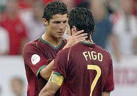 Figo el instructor de Cristiano Ronaldo