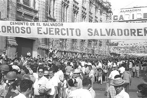 Honduras and Salvador staged war football 1969