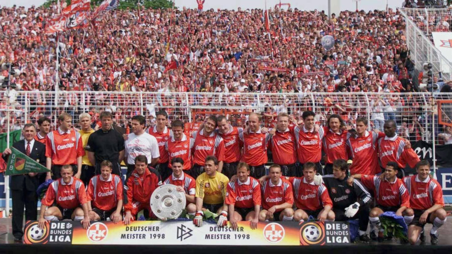 The Kaiserlautern is currently in the Bundesliga 2. The image is the title won Bundesliga 1998.