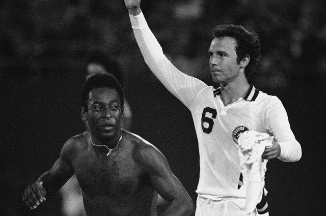 Pelé y el Káiser en su etapa en el Cosmos.