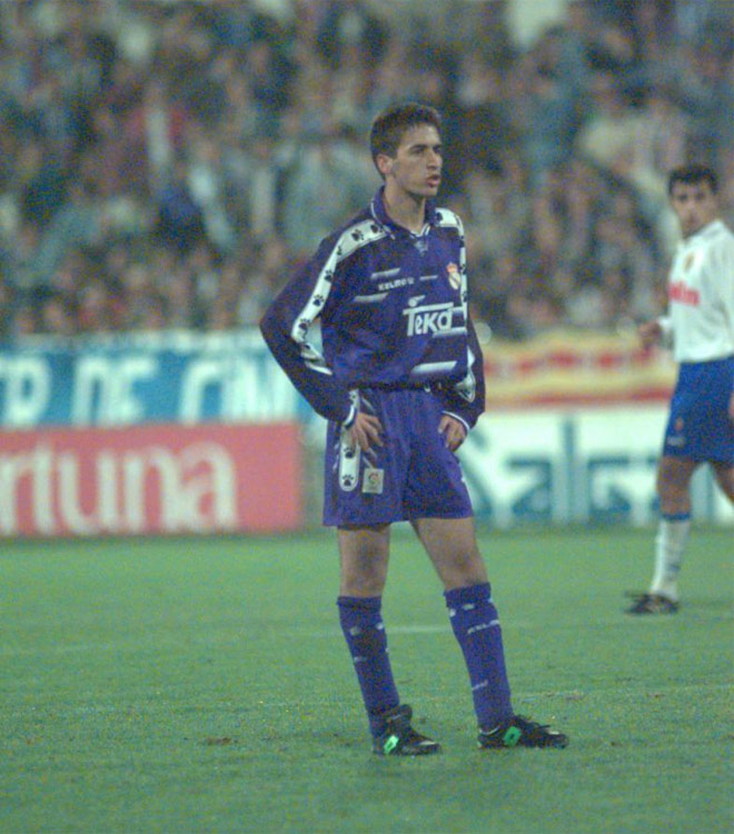 This was the day when Raul made his debut in professional football.
