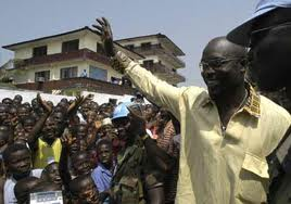 George Weah was presented to the elections in his country
