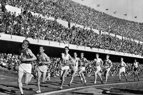 Emil Zatopek achieved a great feat in London Olympics 1948.