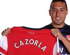 Santi Cazorla  presentado oficialmente por el Arsenal