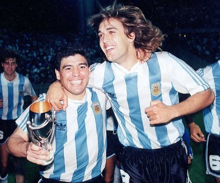 Batistuta and Maradona agreed several years for Argentina.