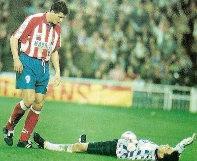 Penev fue el delantero del doblete del Atlético de Madrid de 1996.