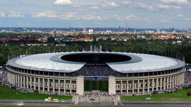 Berliner Olympiastadion wurde eine große Transformation.