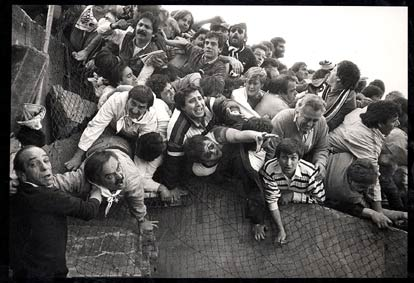 The scenes of terror were monstrous lived in Heysel.