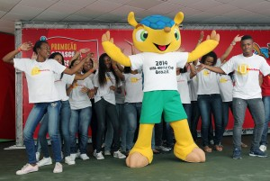 World Mascot 2014 comes on stage