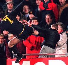 Cantona dealt this kick a fan of Palace.