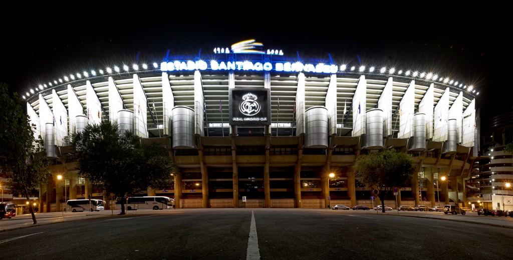 El exterior del Santiago Bernabéu.