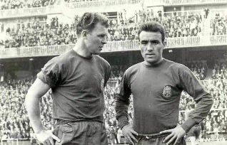 Kubala con la camiseta de España, la tercera selección que defendió