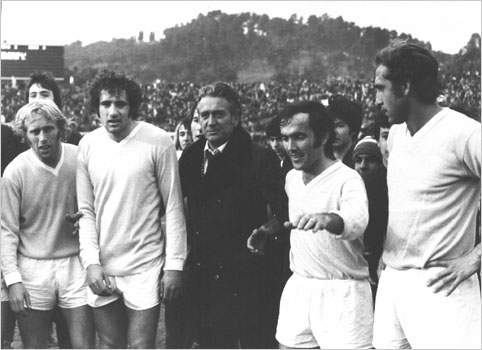 Lazio won the Scudetto in 1974 a team divided into two families of criminals.