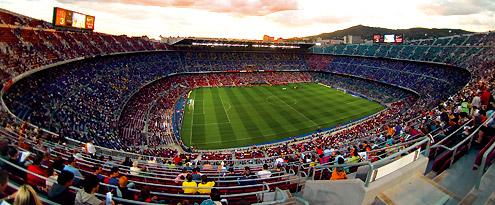 Impressive image of the Camp Nou.