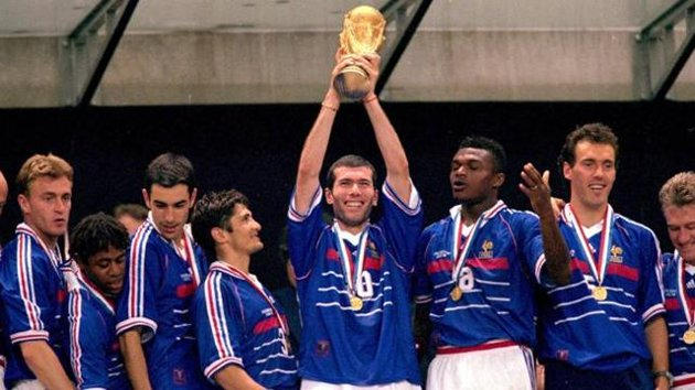 Zidane was proclaimed World Champion in 1998