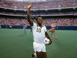 The arrival of Pele to the Cosmos revolutionized American football.