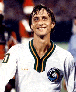 Johan Cruyff came to play a friendly at the Cosmos