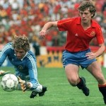 Spanien 5 Dänemark 1: Butragueño berührt den Himmel mit seinen vier Toren