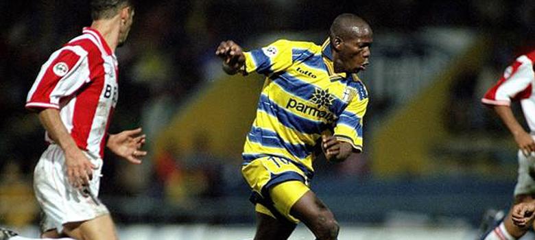 Faustino Asprilla fue una de las estrellas del Parma de los 90.