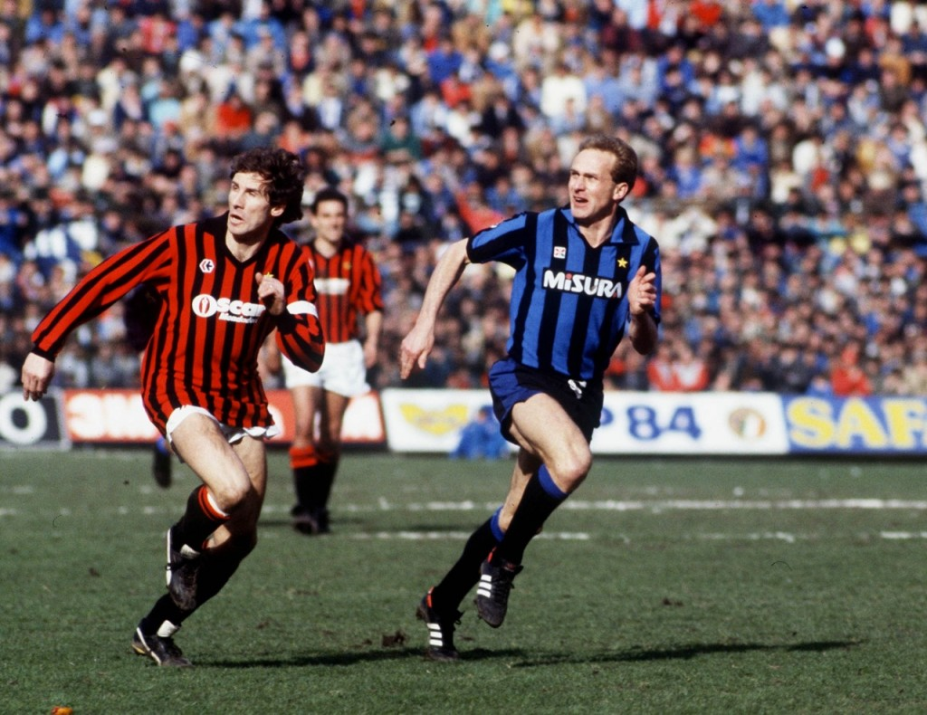 Baresi made his debut very young with AC Milan.