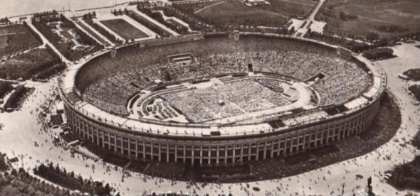 Así era el estadio en sus inicios en 1956.