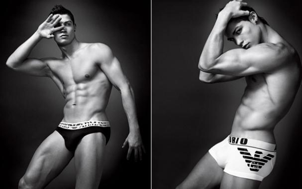 Cristiano Ronaldo is a regular to pose in underwear.