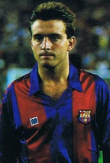 Lucendo con la camiseta del Barcelona y creador del Sindrome Lucendo