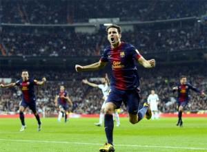Real Madrid 1 Barcelona 1 gol de Cesc Fabregas