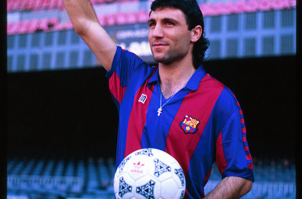 Stoichkov the day he arrived at Barcelona in 1990.
