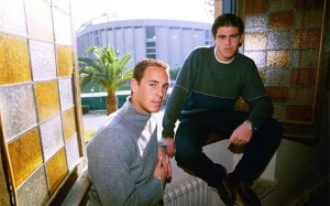 Victor Valdes and Pepe REINA at the Masia in 2000