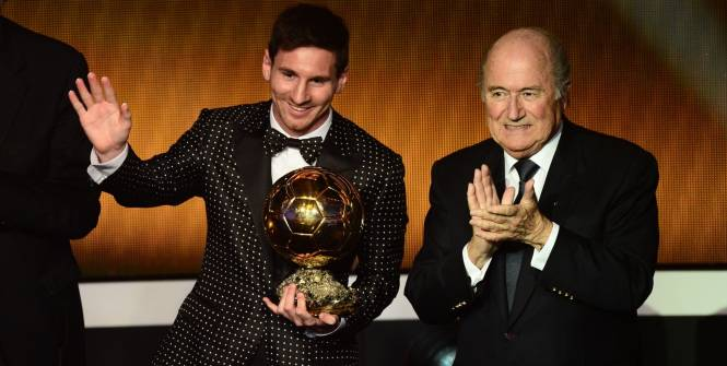 Leo Messi wins fourth Ballon d'Or