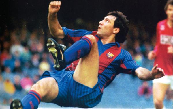 Hristo Stoichkov marked an era in the Camp Nou.