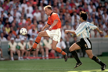 Bergkamp against Argentina in France 98.
